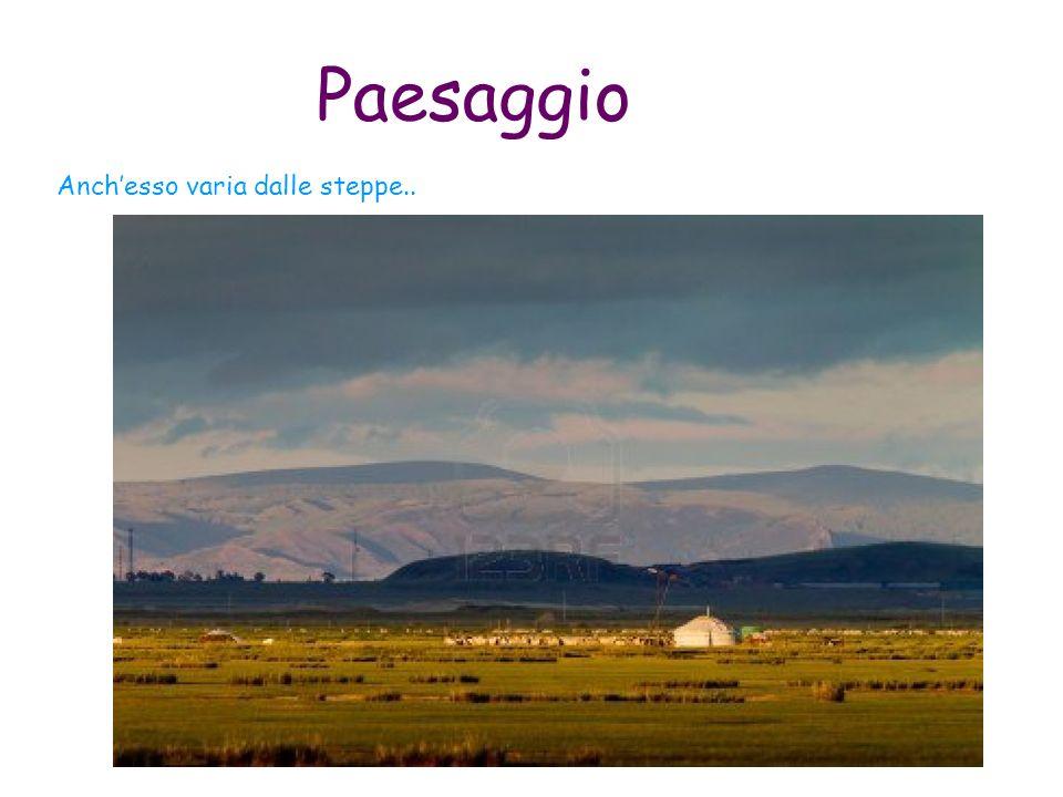 Paesaggio Anch'esso varia dalle steppe..