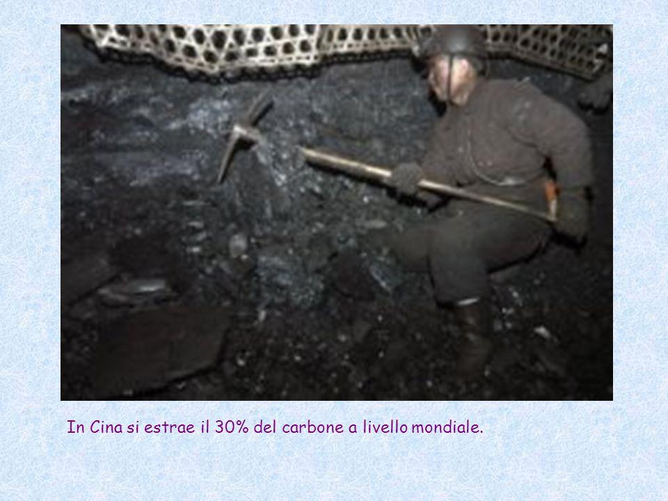 In Cina si estrae il 30% del carbone a livello mondiale.