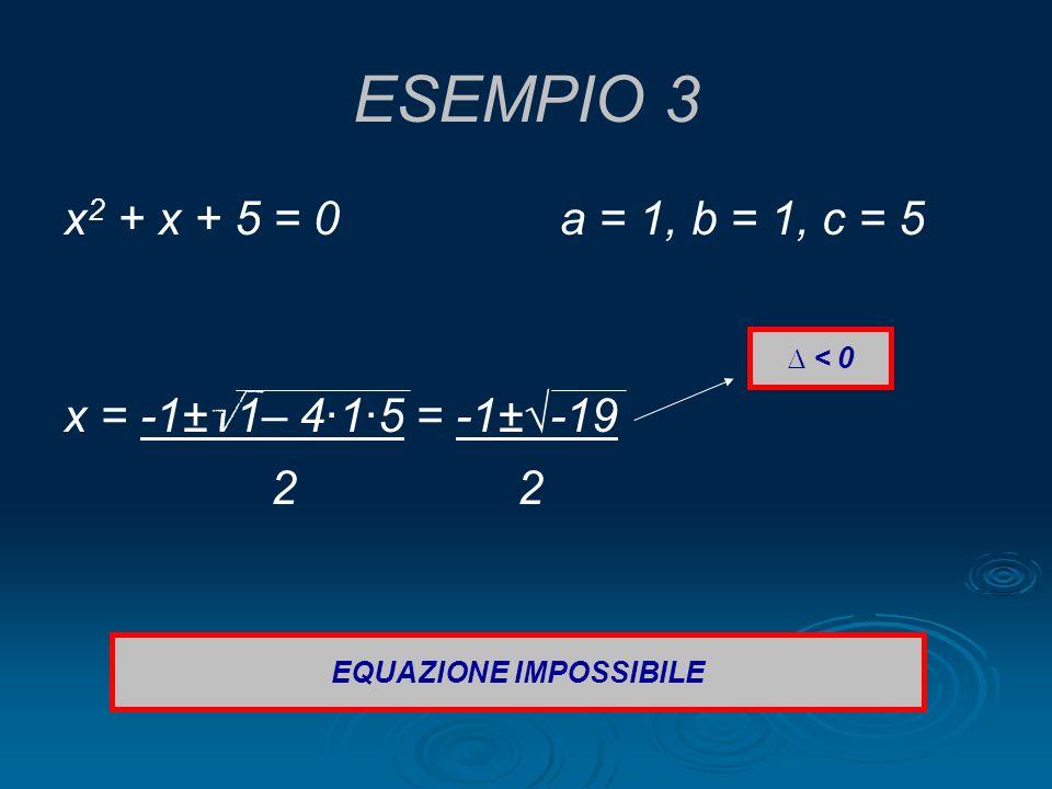 EQUAZIONE IMPOSSIBILE