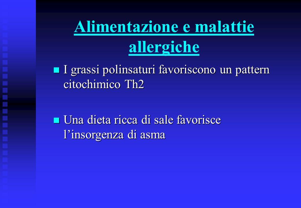 Alimentazione e malattie allergiche