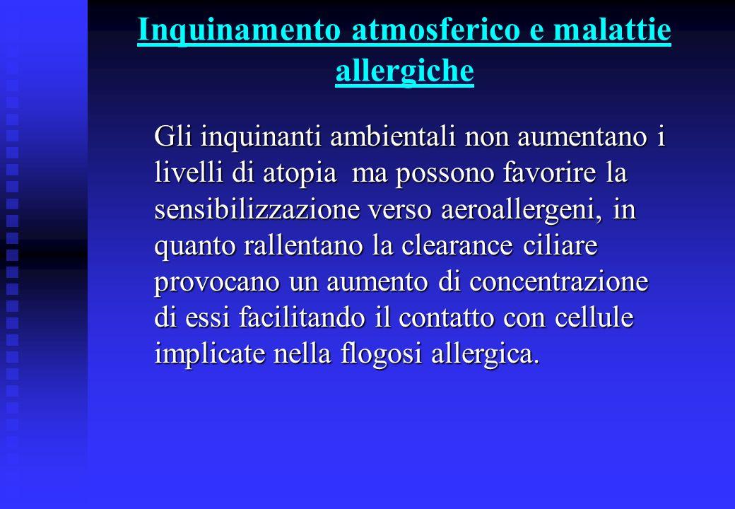 Inquinamento atmosferico e malattie allergiche