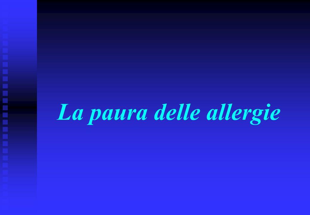 La paura delle allergie