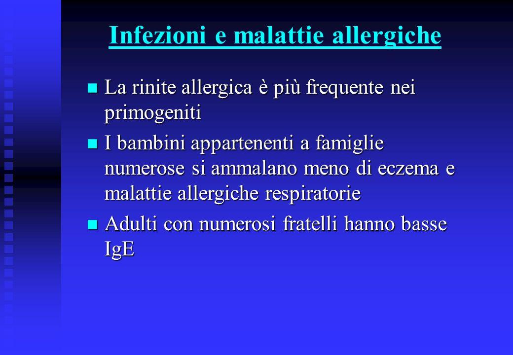 Infezioni e malattie allergiche