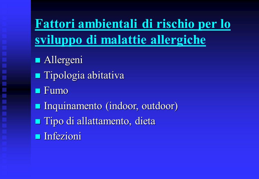 Fattori ambientali di rischio per lo sviluppo di malattie allergiche