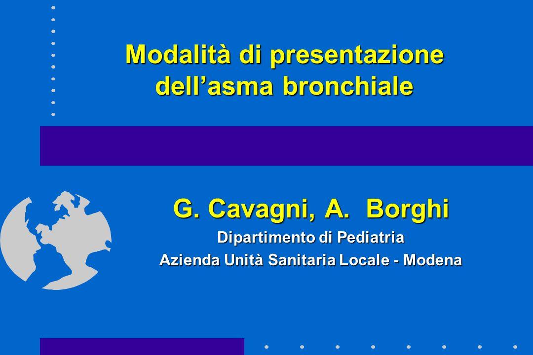 Modalità di presentazione dell'asma bronchiale