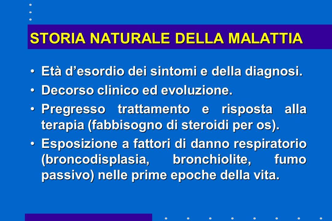 STORIA NATURALE DELLA MALATTIA
