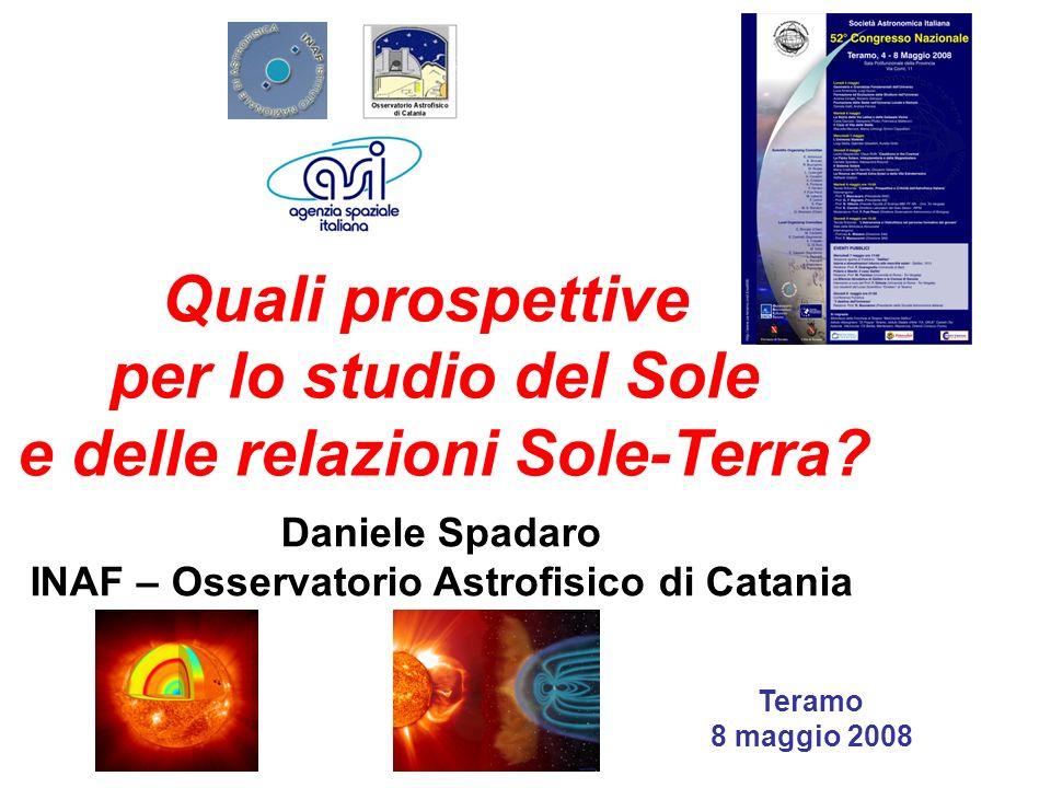 Quali prospettive per lo studio del Sole e delle relazioni Sole-Terra