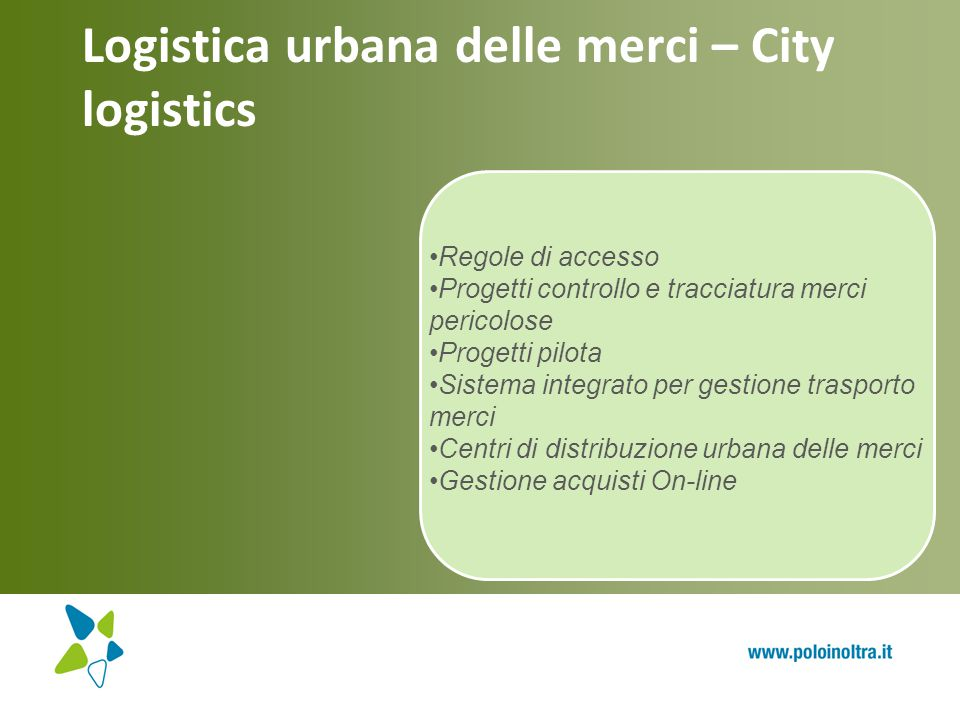 Logistica urbana delle merci – City logistics
