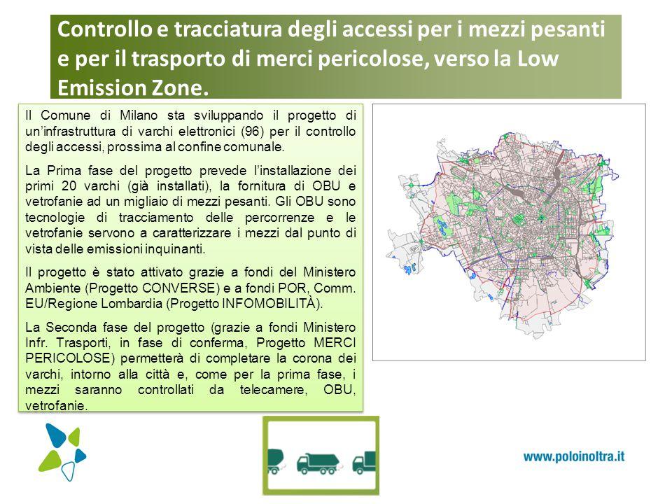 Controllo e tracciatura degli accessi per i mezzi pesanti e per il trasporto di merci pericolose, verso la Low Emission Zone.