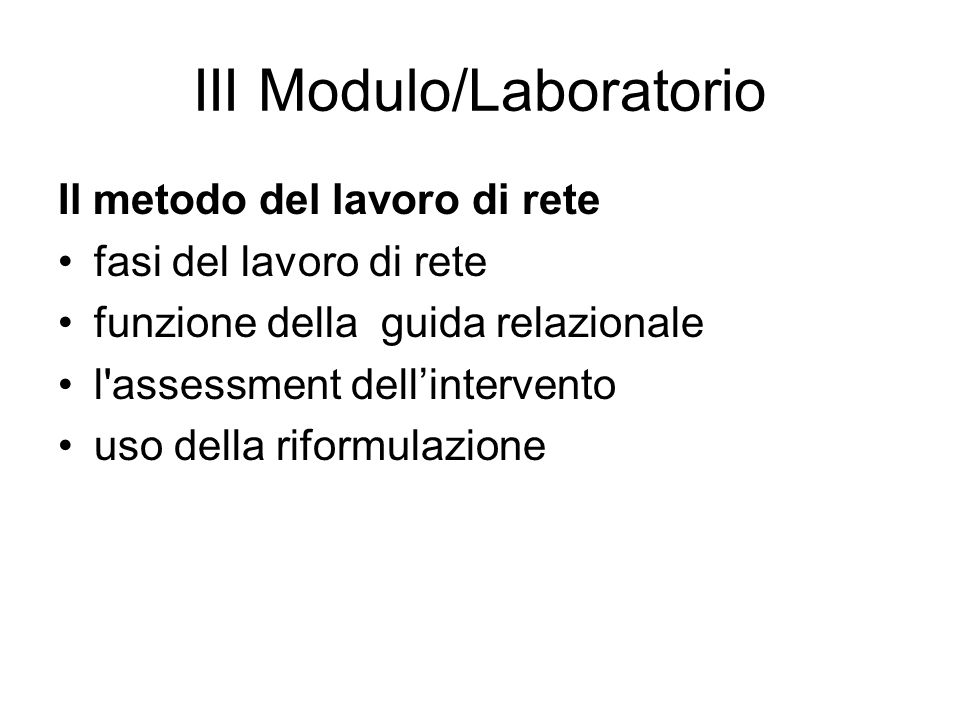 III Modulo/Laboratorio