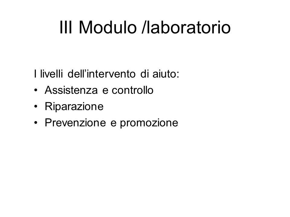 III Modulo /laboratorio