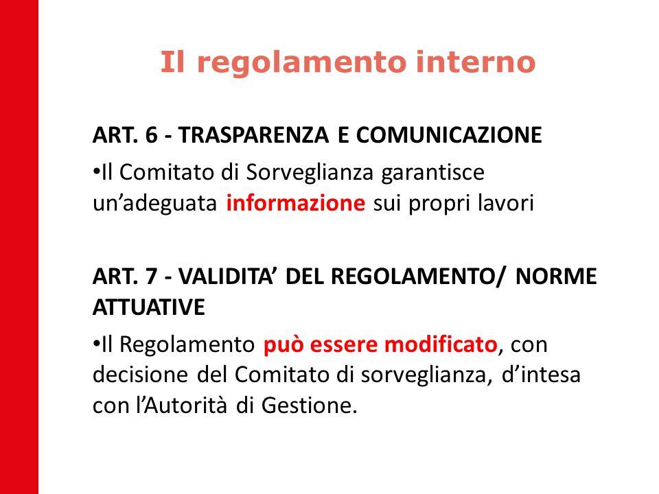 Il regolamento interno