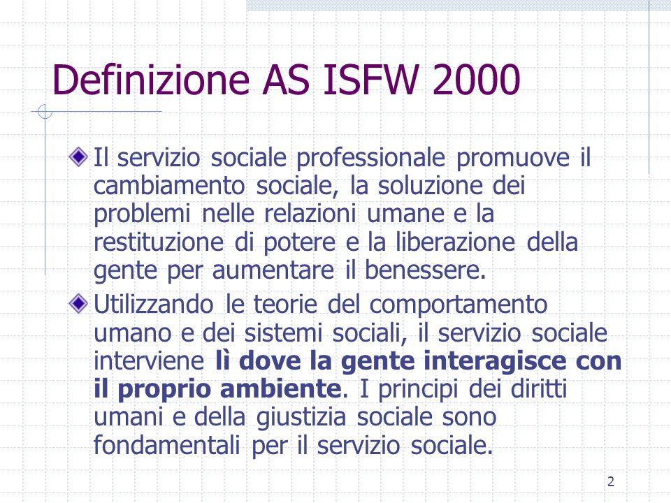 Definizione AS ISFW 2000