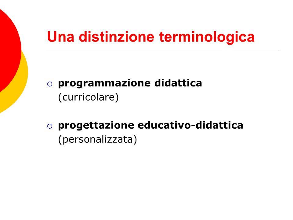 Una distinzione terminologica