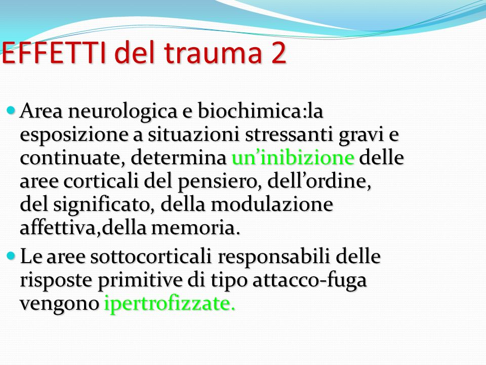 EFFETTI del trauma 2