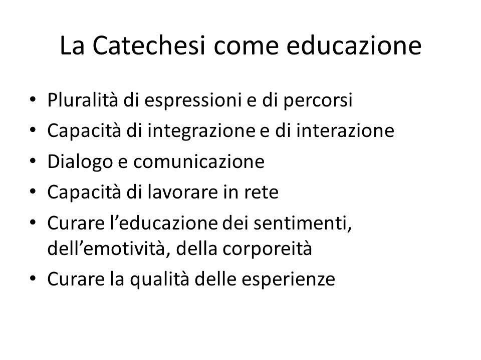 La Catechesi come educazione