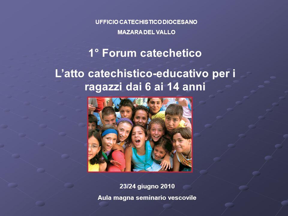 L'atto catechistico-educativo per i ragazzi dai 6 ai 14 anni