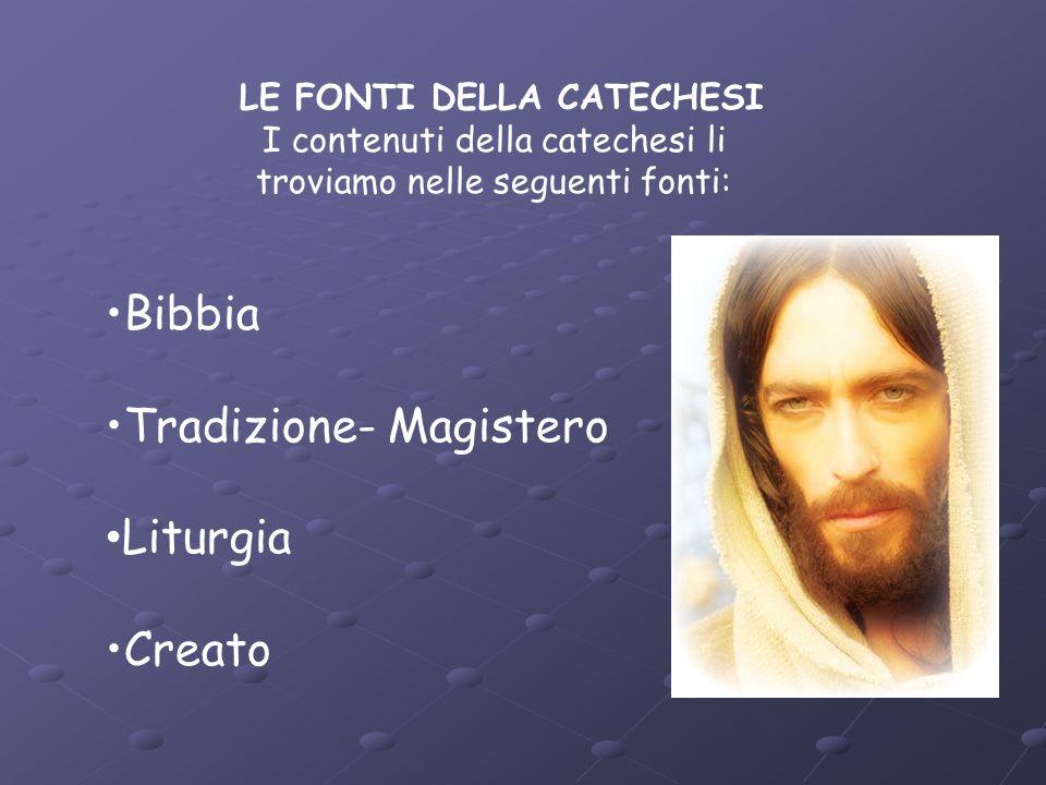 Tradizione- Magistero Liturgia Creato