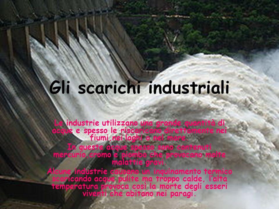 Gli scarichi industriali