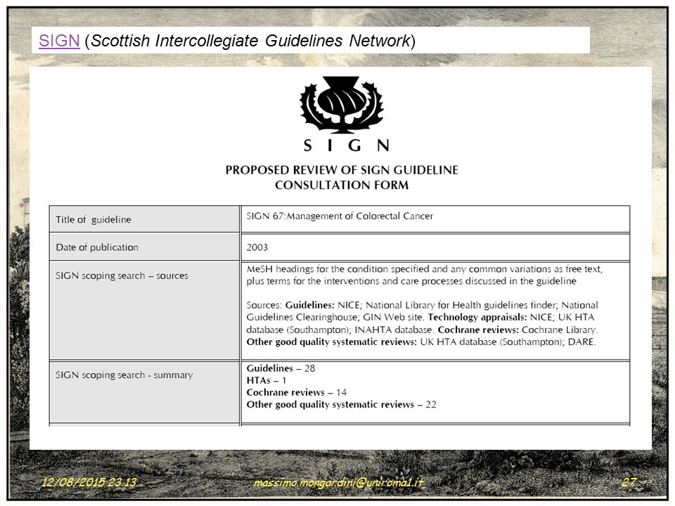 SIGN (Scottish Intercollegiate Guidelines Network)
