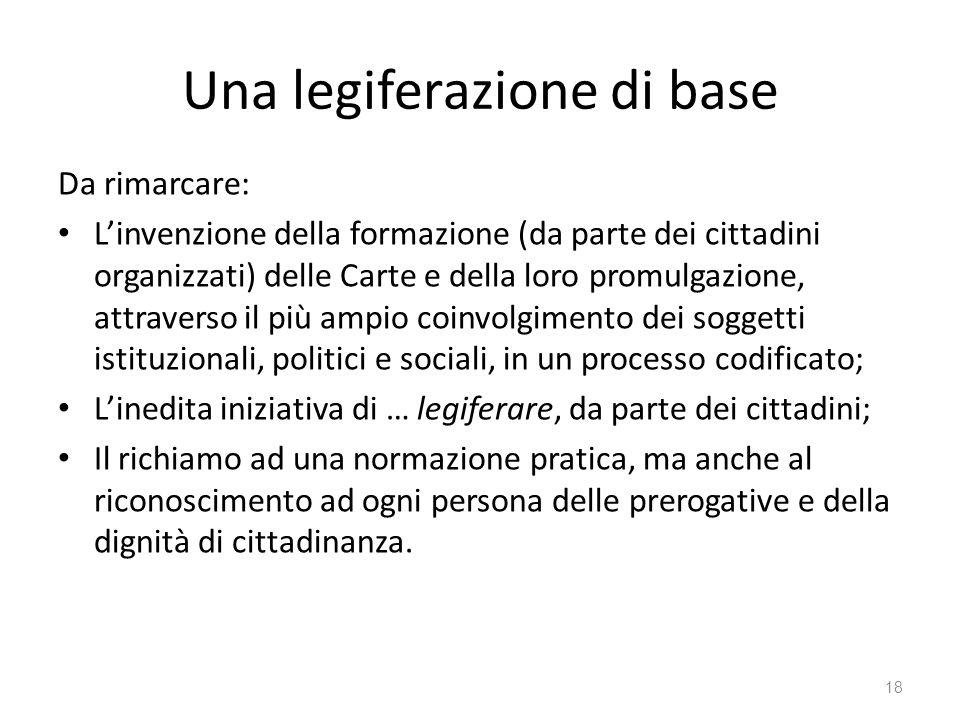 Una legiferazione di base