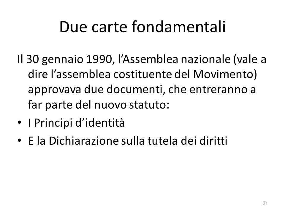 Due carte fondamentali