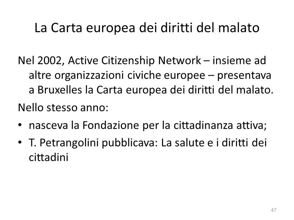 La Carta europea dei diritti del malato