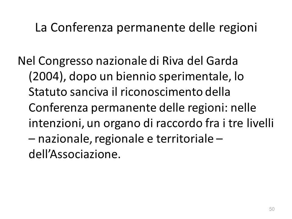 La Conferenza permanente delle regioni