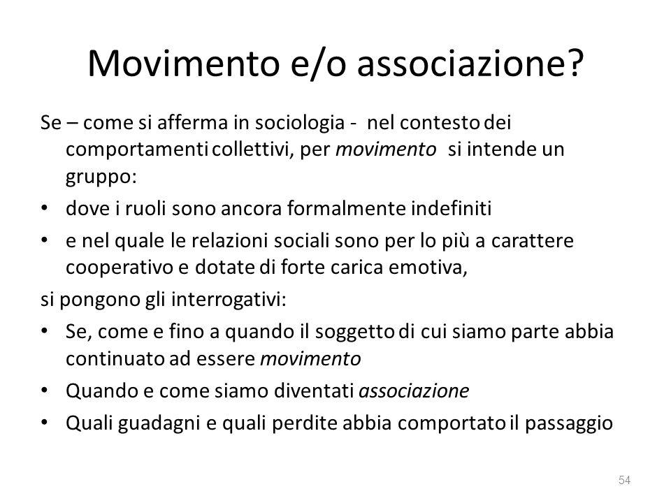Movimento e/o associazione