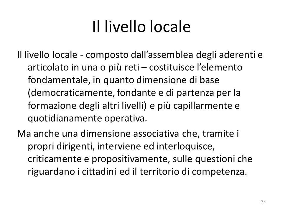 Il livello locale