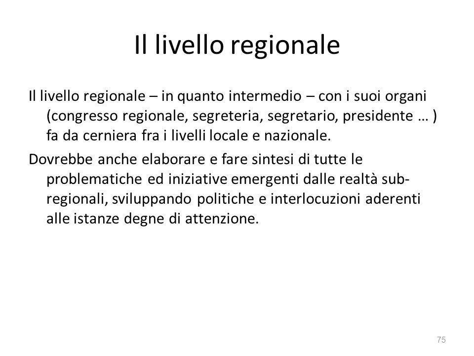 Il livello regionale