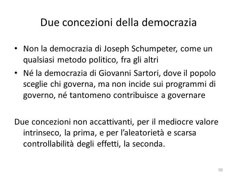 Due concezioni della democrazia