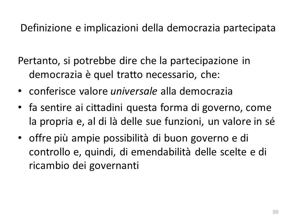Definizione e implicazioni della democrazia partecipata