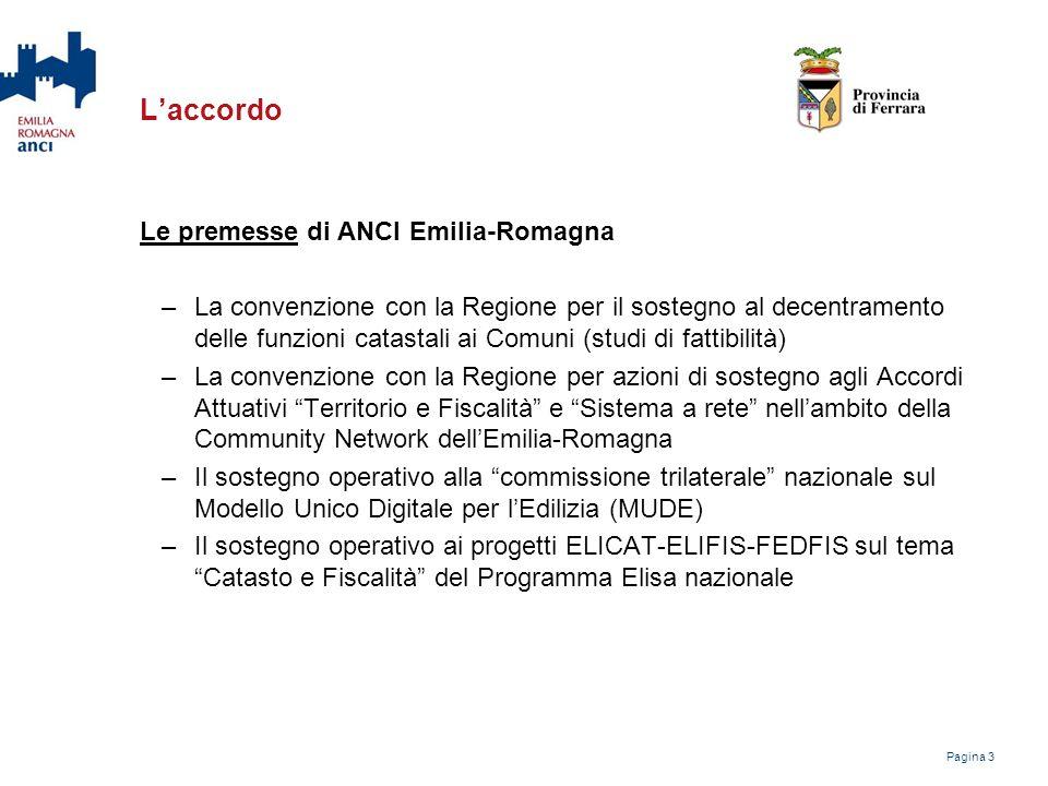 L'accordo Le premesse di ANCI Emilia-Romagna