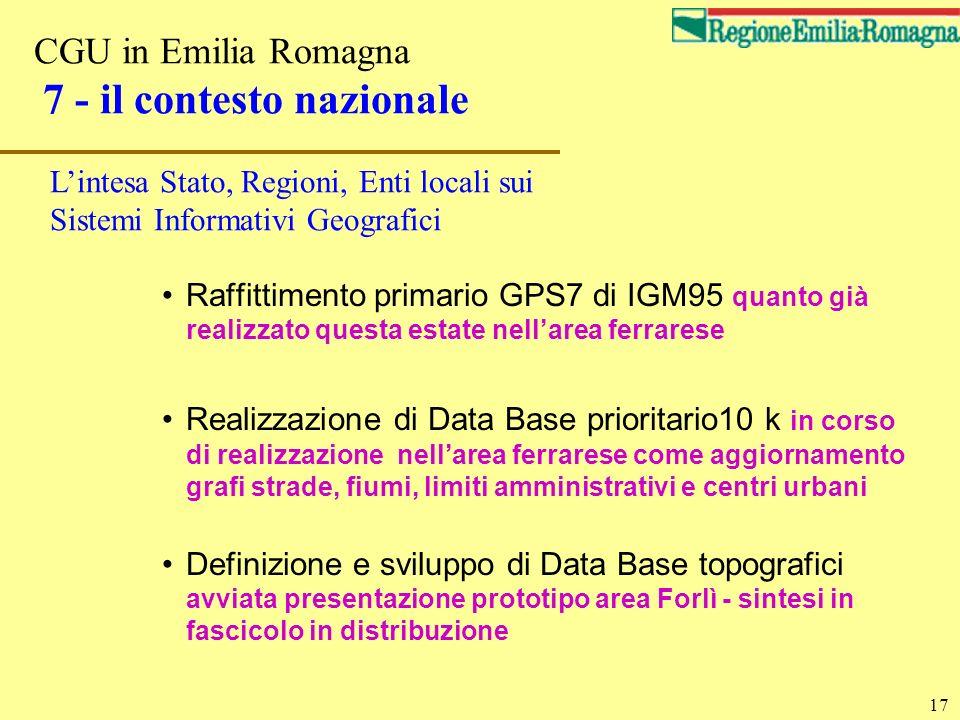 CGU in Emilia Romagna 7 - il contesto nazionale