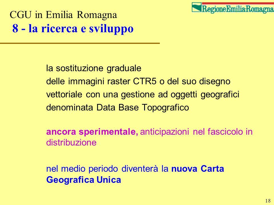 CGU in Emilia Romagna 8 - la ricerca e sviluppo