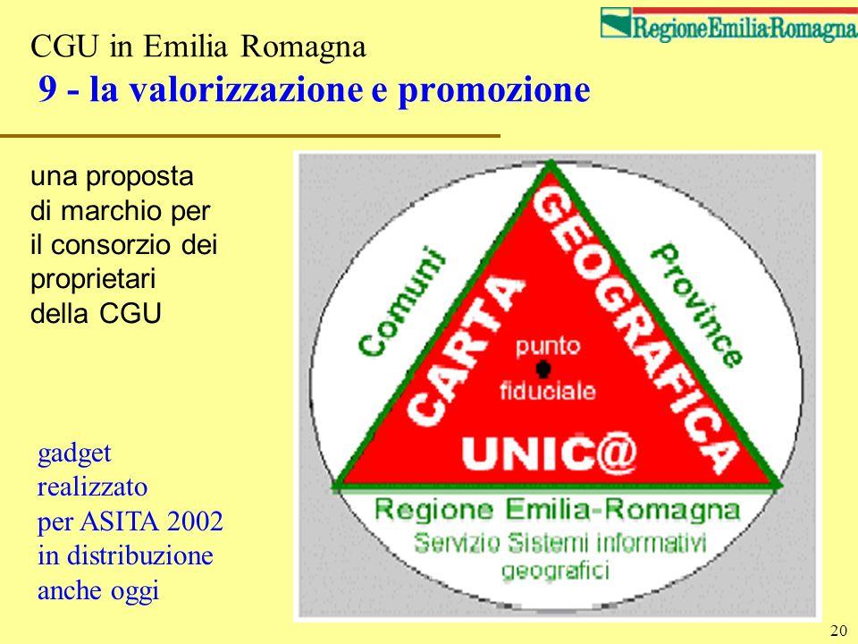CGU in Emilia Romagna 9 - la valorizzazione e promozione