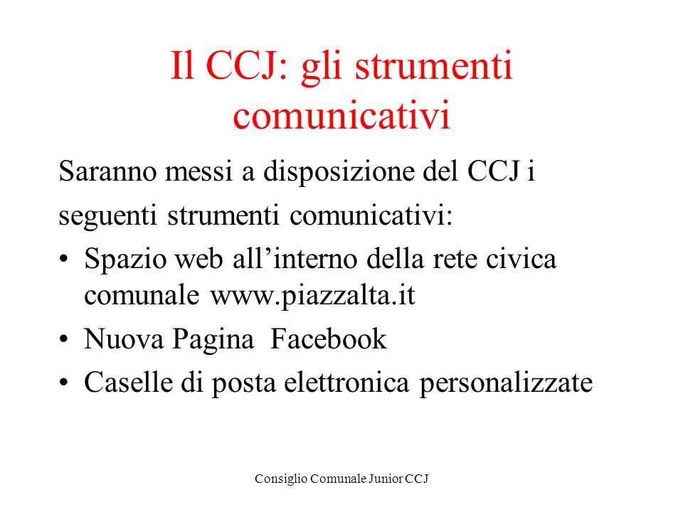 Il CCJ: gli strumenti comunicativi
