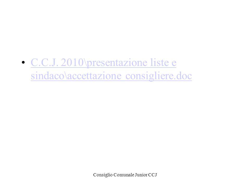 Consiglio Comunale Junior CCJ