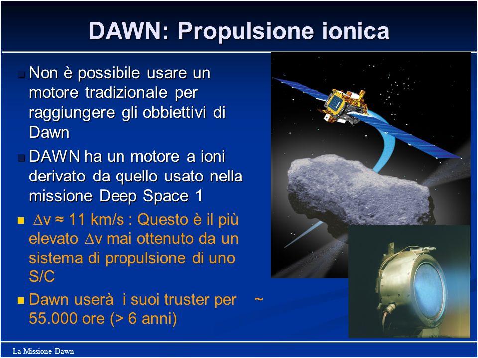 DAWN: Propulsione ionica