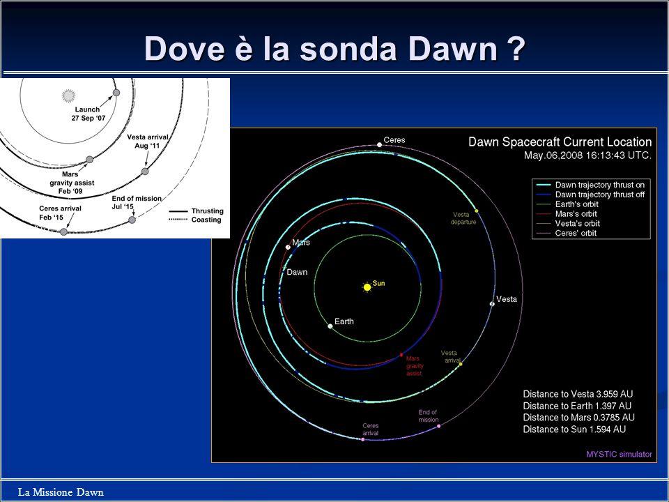 Dove è la sonda Dawn
