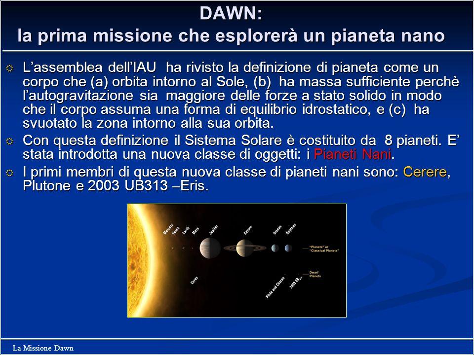 DAWN: la prima missione che esplorerà un pianeta nano