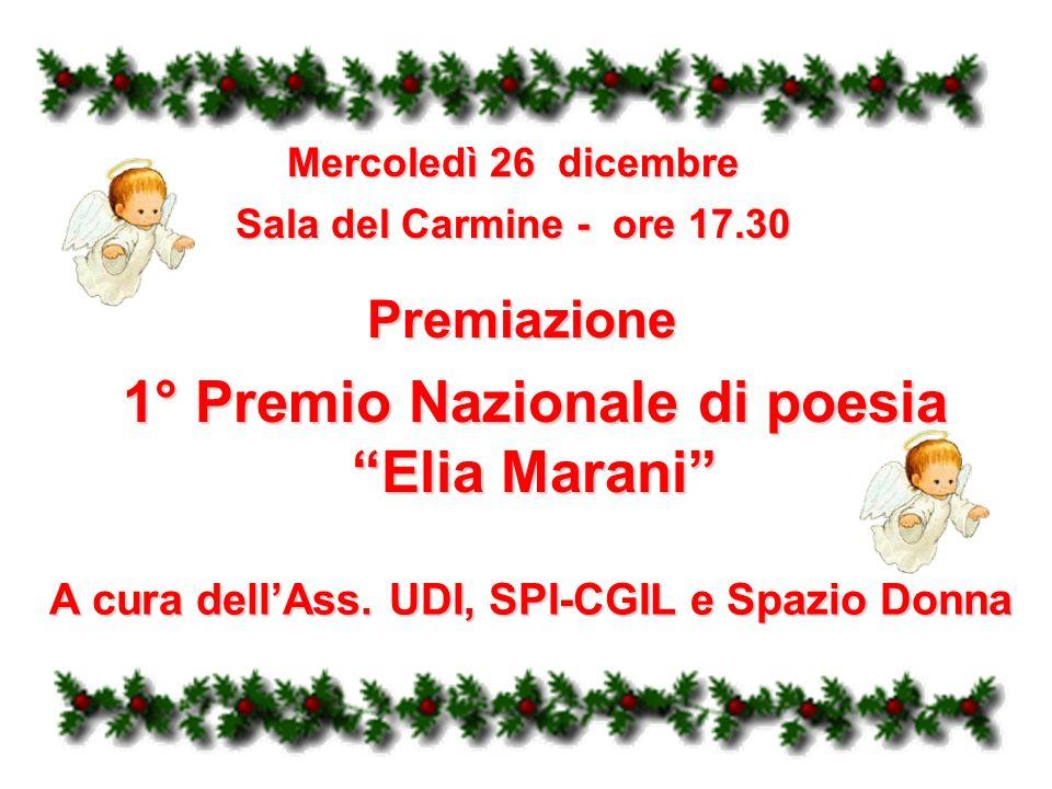 1° Premio Nazionale di poesia Elia Marani