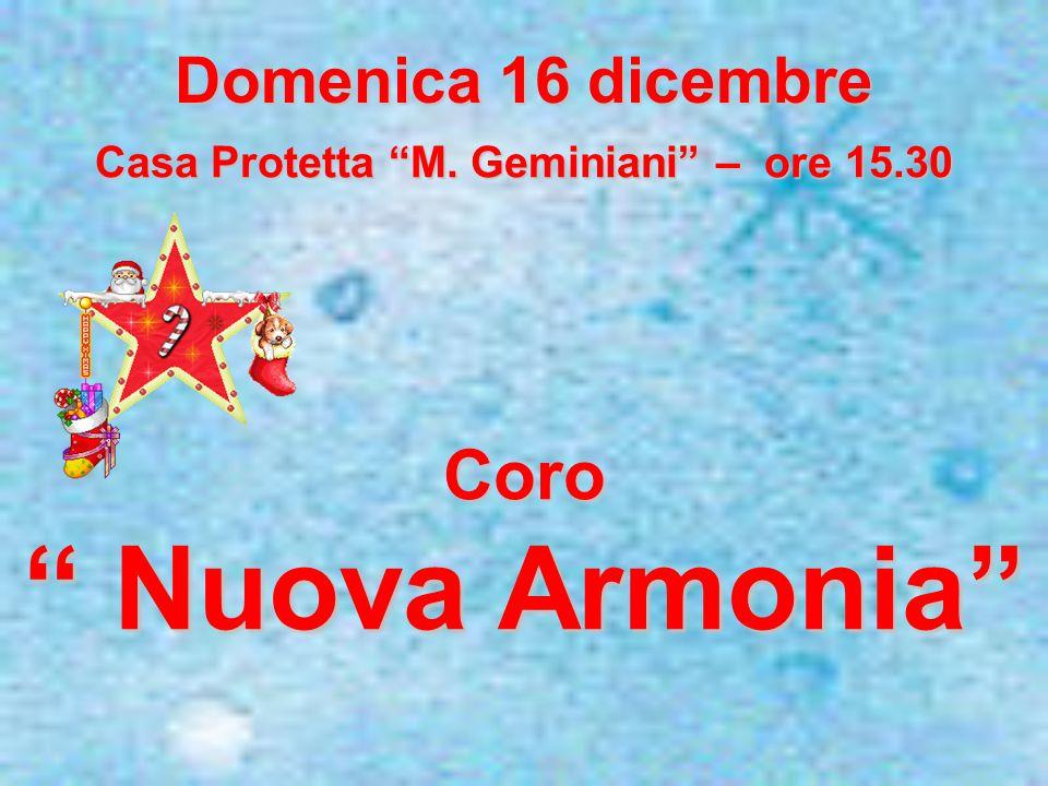 Casa Protetta M. Geminiani – ore 15.30