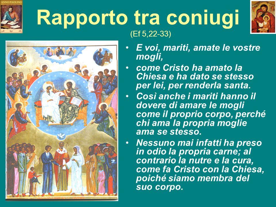 Rapporto tra coniugi (Ef 5,22-33)