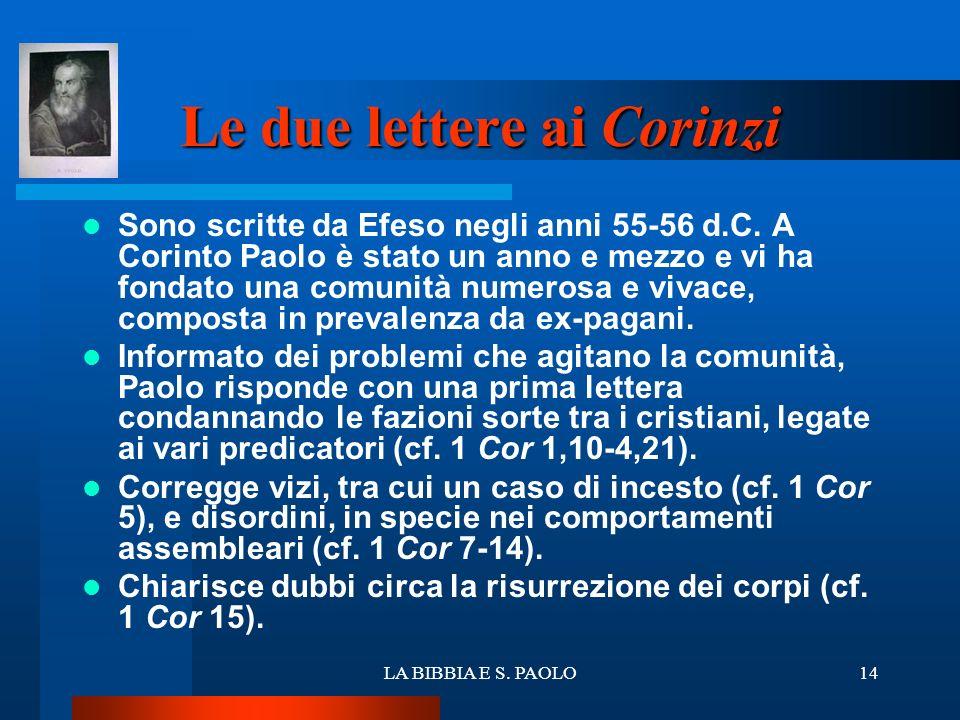 Le due lettere ai Corinzi