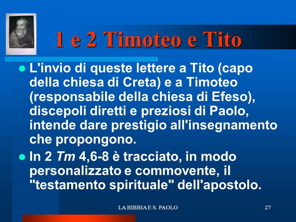 1 e 2 Timoteo e Tito