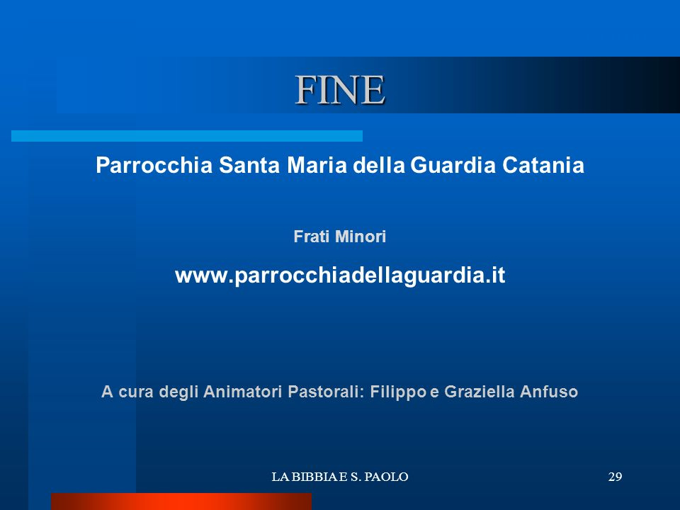 FINE ritardo Parrocchia Santa Maria della Guardia Catania