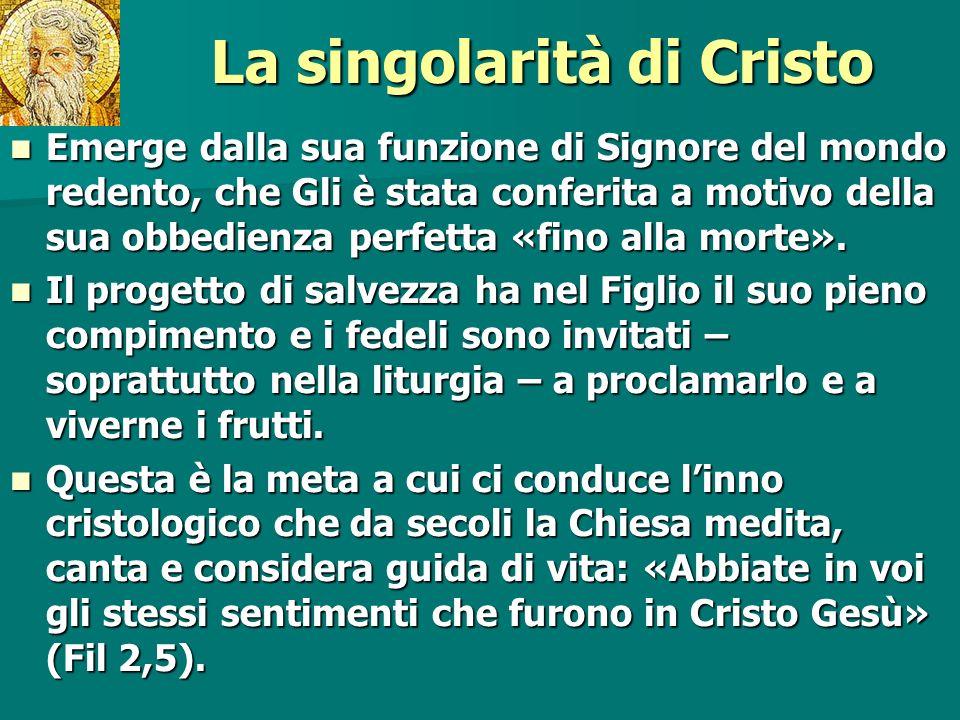 La singolarità di Cristo