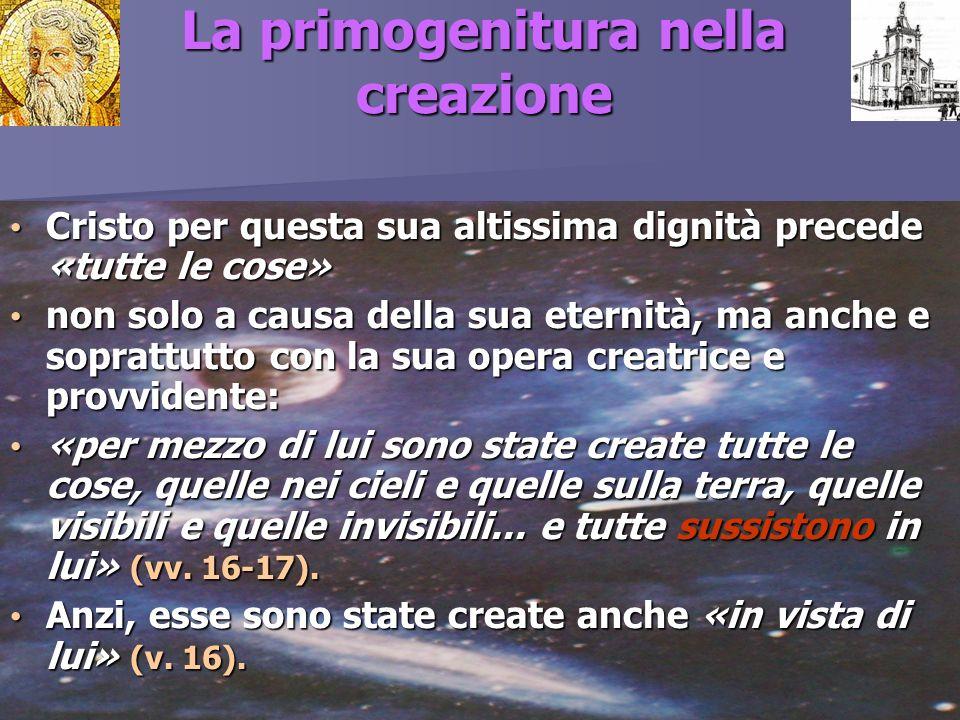 La primogenitura nella creazione